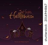 happy halloween purple...   Shutterstock .eps vector #2016944867