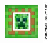 pixel tile with colored square...