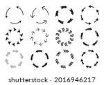 circular arrows silhouette...   Shutterstock .eps vector #2016946217