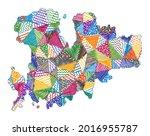 kid style map of mykonos. hand...   Shutterstock .eps vector #2016955787