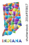 indiana   colorful low poly us...   Shutterstock .eps vector #2016955817