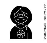 cyberpunk woman with mask glyph ...   Shutterstock .eps vector #2016959144