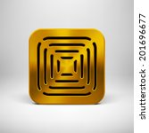gold abstract technology app...