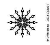 black mandala ornament vector ... | Shutterstock .eps vector #2016982097