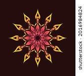dark background mandala... | Shutterstock .eps vector #2016984824