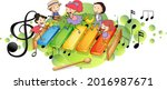 xylophone with many happy kids... | Shutterstock .eps vector #2016987671