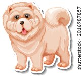 sticker design with chow chow... | Shutterstock .eps vector #2016987857