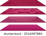 set of different pink wooden... | Shutterstock .eps vector #2016987884