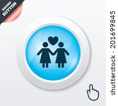 couple sign icon. woman love...