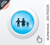 family with one child sign icon....