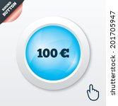 100 euro sign icon. eur...