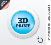 3d print sign icon. 3d printing ...