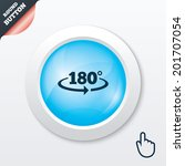 angle 180 degrees sign icon....