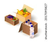 cartoon of food pack for...   Shutterstock .eps vector #2017095827