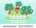 kawaii cartoon illustration of... | Shutterstock .eps vector #2017102637