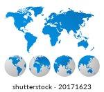 world map | Shutterstock .eps vector #20171623