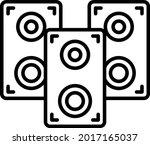 speakers vector line icon...   Shutterstock .eps vector #2017165037