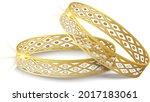 Diamond Cut Gold Bangle Golden...