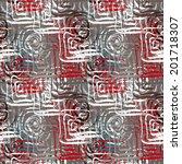 abstract art grunge seamless...   Shutterstock .eps vector #201718307