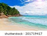 tropical summer beach | Shutterstock . vector #201719417