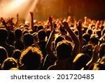People Have Fun In A Concert
