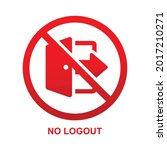 no logout sign isolated on...   Shutterstock .eps vector #2017210271