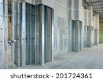Steel Studs Used To Frame In A...