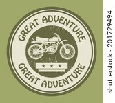 motocross adventure label or... | Shutterstock .eps vector #201729494