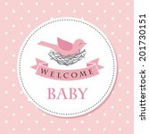 welcome baby card design.... | Shutterstock .eps vector #201730151
