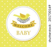 welcome baby card design.... | Shutterstock .eps vector #201730169