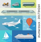 various types of transport  car ... | Shutterstock .eps vector #201734264