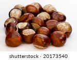 A Few Brown Chestnuts Are On A...