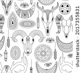 vector seamless pattern with... | Shutterstock .eps vector #2017355831