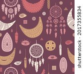 vector seamless pattern with... | Shutterstock .eps vector #2017355834