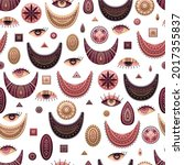vector seamless pattern with... | Shutterstock .eps vector #2017355837
