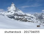 matterhorn peak with blue sky...
