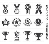 icon trophy award | Shutterstock .eps vector #201736925