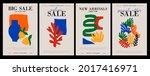 set of trendy matisse style... | Shutterstock .eps vector #2017416971