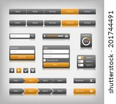 web design elements with... | Shutterstock . vector #201744491