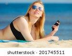 summer vacation. sexy girl in... | Shutterstock . vector #201745511