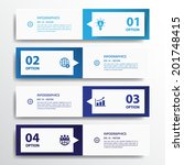 design clean number banners... | Shutterstock .eps vector #201748415