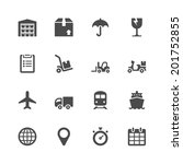 logistic icons | Shutterstock .eps vector #201752855