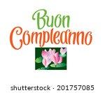 buon compleanno italian happy... | Shutterstock .eps vector #201757085