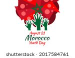 august 21  youth day of morocco ... | Shutterstock .eps vector #2017584761