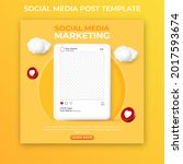 3d social media post template... | Shutterstock .eps vector #2017593674