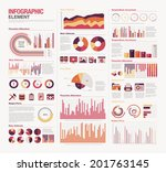 infographic elements big set | Shutterstock .eps vector #201763145