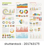 infographic elements big set | Shutterstock .eps vector #201763175