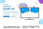 business startup landing page....