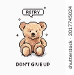 don't give up slogan with bear...   Shutterstock .eps vector #2017745024