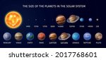 realistic solar system planet...   Shutterstock .eps vector #2017768601